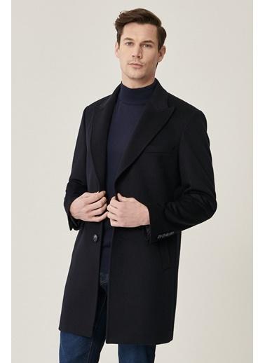 Beymen Business Standart Fit Düz Palto 4B0521100009 Lacivert